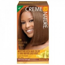 Creme Of Nature Moisture Rich Hair Color Kit C20 Light Golden Brown
