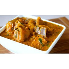 Ogbon soup with pounded yam