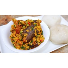Egusi Soup ( Melon) with pounded yam